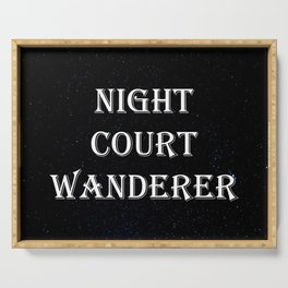Night Court Wanderer Serving Tray