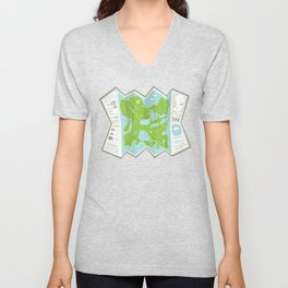 Totally Inaccurate Map of Gifford Pinchot State Park Unisex V-Neck