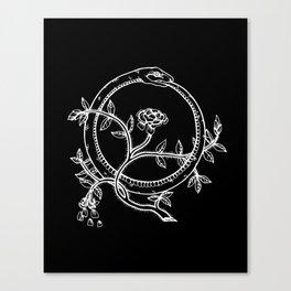 White Ouroborous  Canvas Print