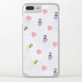 Love & Coffee Clear iPhone Case