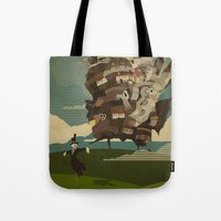castle Tote Bags featuring Moving Castle by Danny Haas
