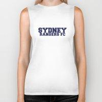 college Biker Tanks featuring College - Blue by Sydney Rangers FC