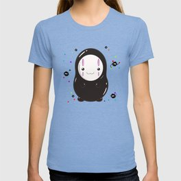 Spirited Away No Face Kawaii With Soot Sprites T-shirt