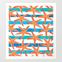 Starfish Tropics Art Print