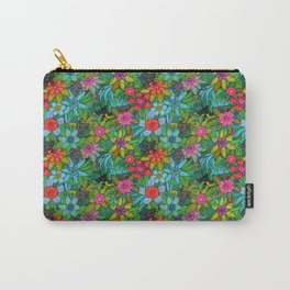 Pattern kitties and flowers Carry-All Pouch