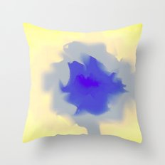 Unfurled Yellow Throw Pillow