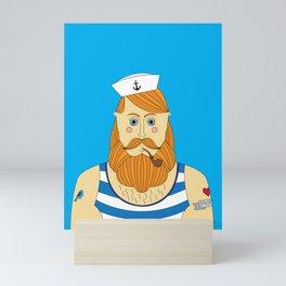 Sailor Light Blue Mini Art Print
