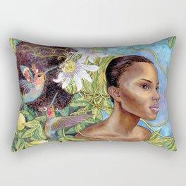 Fruits and Fantasy: Passion Fruit Fairies Rectangular Pillow