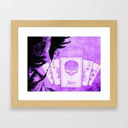 Purple Jokester Framed Art Print