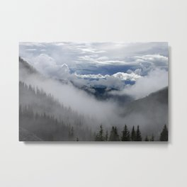 Travell The Valley of Mist Metal Print
