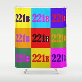 221B Color Block Shower Curtain