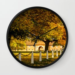 Autumn at Wiseton Stables Wall Clock