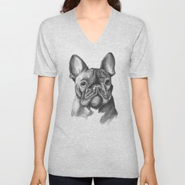 French Bulldog Drawing Unisex V-Neck