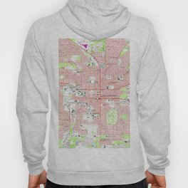 Tallahassee Florida Map (1970) Hoody