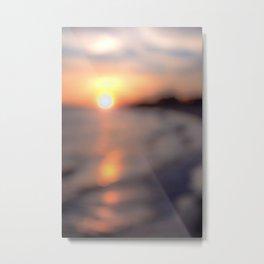 Soft Sun Metal Print