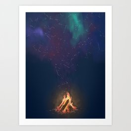 Campfire of Constellations Art Print