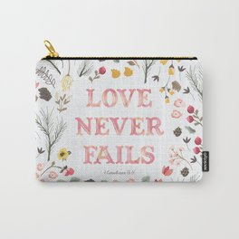 Love Never Fails - Floral Carry-All Pouch