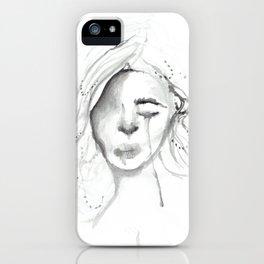 sad gurl iPhone Case