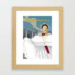Hispanic Heritage Series - Central America - Panamanian Dancer Framed Art Print