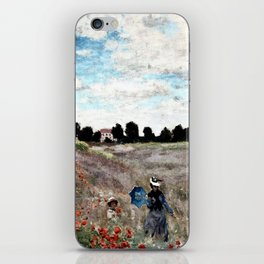 Claude Monet's Poppy Fields iPhone Skin