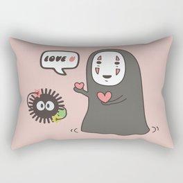Studio Ghibli No-Face in Love of SootBall Rectangular Pillow