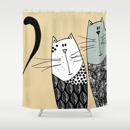 Mr & Mrs Cat Shower Curtain