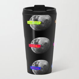 Moon languages of the world Metal Travel Mug
