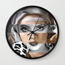 Michelangelo's Sybilla Delfica & Bette Davis Wall Clock