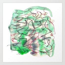Green wat 3 Art Print