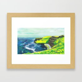 The Wind Will Bow You Framed Art Print