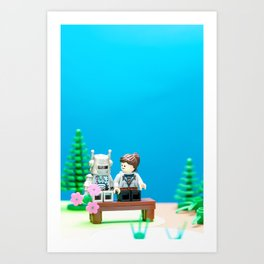 Awkward First Date Art Print