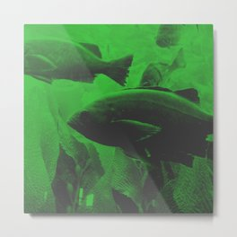 green fishes Metal Print