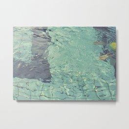 Pool swimming Metal Print