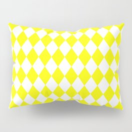 Rhombus (Yellow/White) Pillow Sham