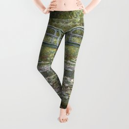 Bridge over a Pond of Water Lilies by Claude Monet Leggings