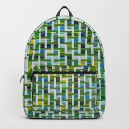 Unmixed Greens with Basket Weave Backpack