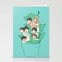 haikyuu Stationery Cards featuring Haikyuu!! Aobajousai Team by Kim Quim