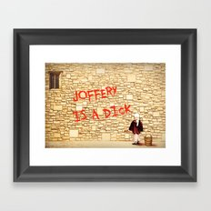 King's Landing Banksy: Joffery Framed Art Print