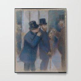 Edgar Degas - Portraits at the Stock Exchange Metal Print