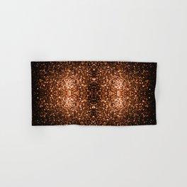 Beautiful Bronze Orange Brown glitters sparkles Hand & Bath Towel