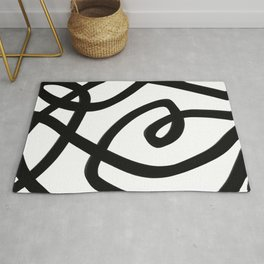 Balck and white abstract -  finding the way Rug