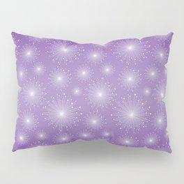 Purple Gradient with White Sparkle Starbursts Pillow Sham