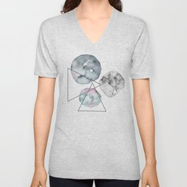 Orbiting Asteroid Pattern Unisex V-Neck
