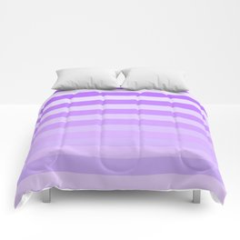 Purple Stripes Fade Comforters