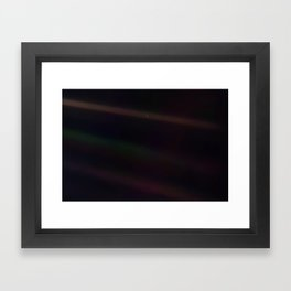 Mote of dust, suspended in a sunbeam Framed Art Print