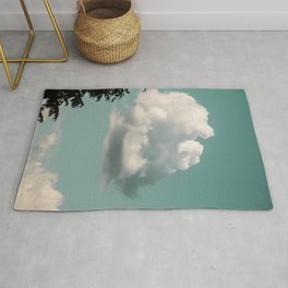 Mint Skies and White Fluffy Clouds #2 Rug