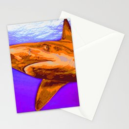 Painted Shark, Orange Stationery Cards