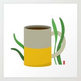 Coffee is fuel Art Print