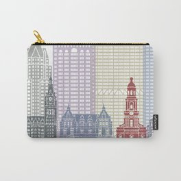 Milwaukee skyline poster Carry-All Pouch