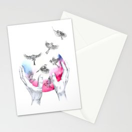 wild and free - pink Stationery Cards